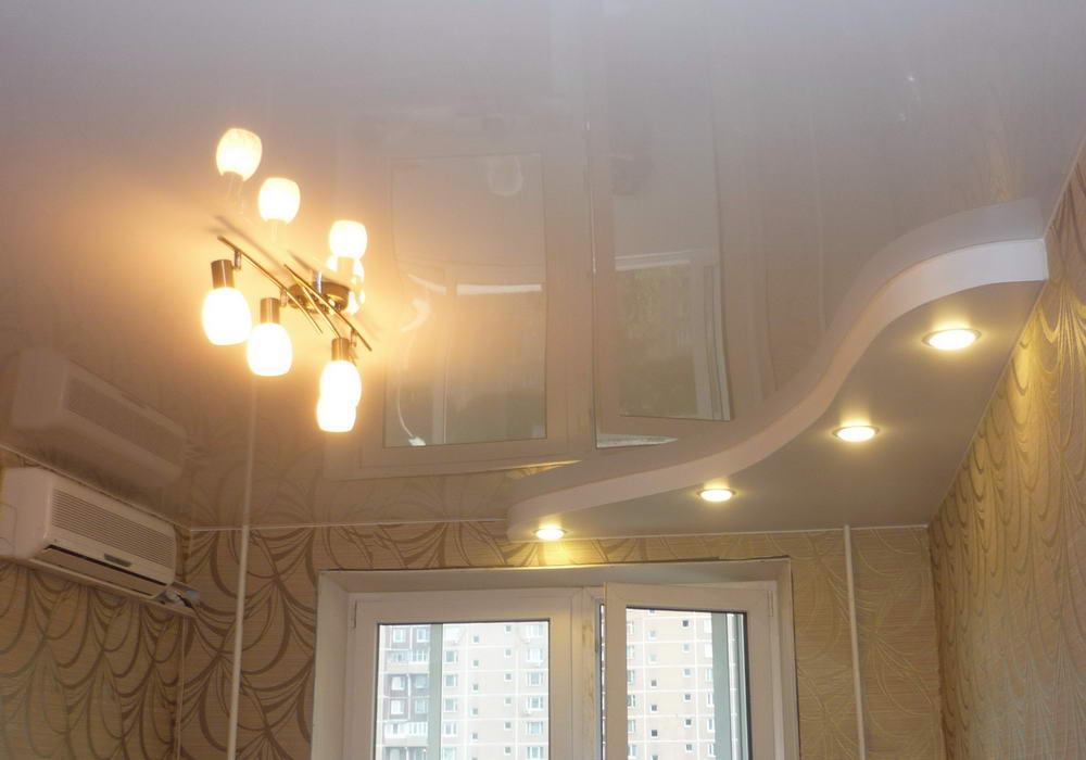 Эффект отражения на натяжном потолке