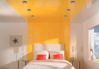 Выбор цвета натяжного потолка - жёлтый
