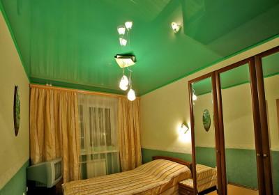 Выбор цвета натяжного потолка - зелёный