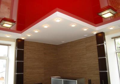 Выбор цвета натяжного потолка - красный