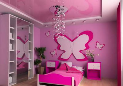 Выбор цвета натяжного потолка - розовый