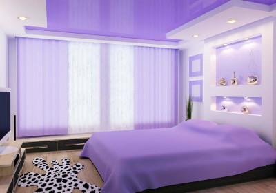 Выбор цвета натяжного потолка - сиреневый