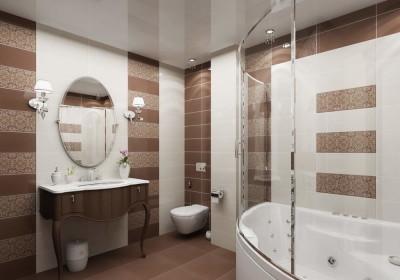 Натяжной потолок в ванной 1