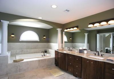 Натяжной потолок в ванной 3